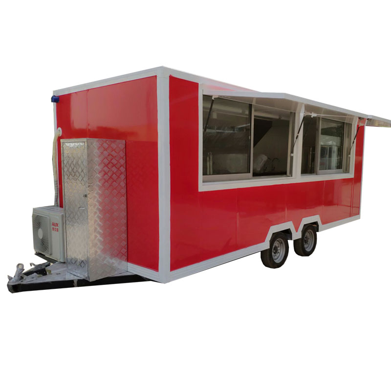 New Designed Commercial Food Kitchen Truck/BBQ Grill Food Trailer/Ice Cream Cart