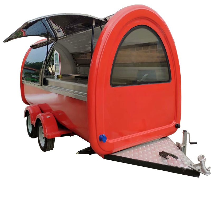 Commercial Mobile Ice Cream Food Cart, Fryer Food Truck, BBQ Grill Food Trailer