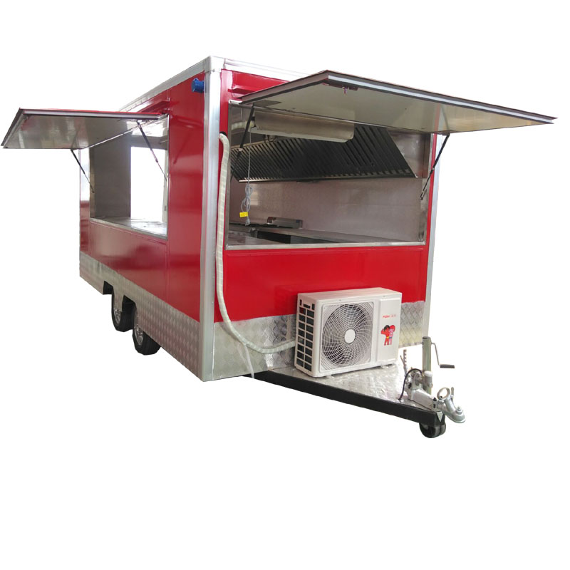China Fast Food Application Mobile Fryer Food Truck Trailer